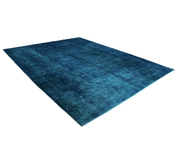 Kiara Vintage Persian Hand-Knotted Wool Blue Area Rug by Bloomsbury Market