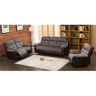 Tanna Reclining 3 Piece Living Room Set Red Barrel Studio