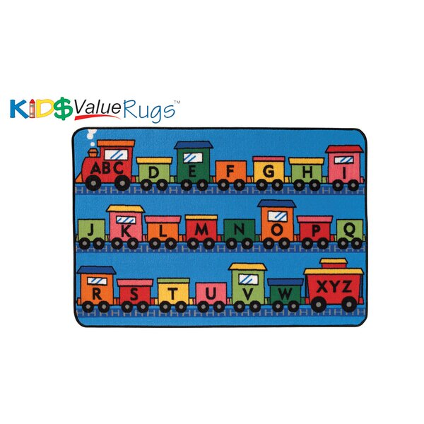 Alphabet Train Kids Rug by Kids Value Rugs
