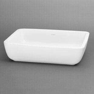 Mod Ceramic Square Vessel Bathroom Sink Ronbow