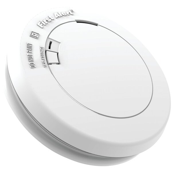 Sealed-Battery Photoelectric Smoke Alarm by First