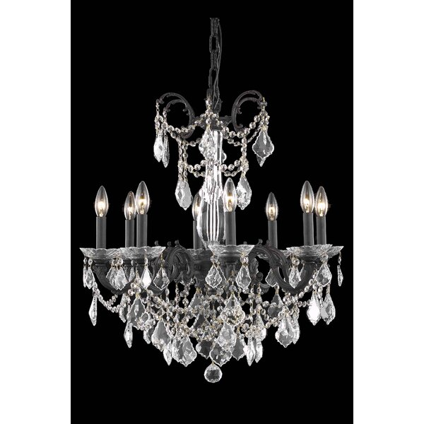 Cherie 8 - Light Candle Style Classic / Traditional Chandelier By Rosdorf Park