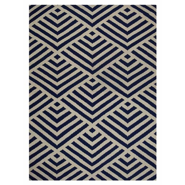 Browner Hand Knotted Dvina Wool Beige/Blue Indoor Area Rug by Brayden Studio