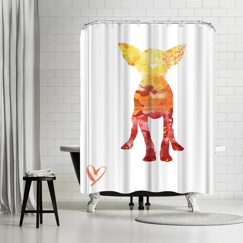 Allison Gray Chihuahua Shower Curtain