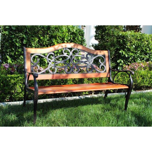 Steffen Cast Iron Park Bench By Fleur De Lis Living
