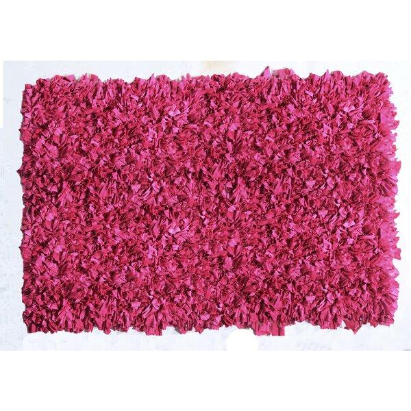 Kaylyn Shaggy Pink Area Rug by Ebern Designs