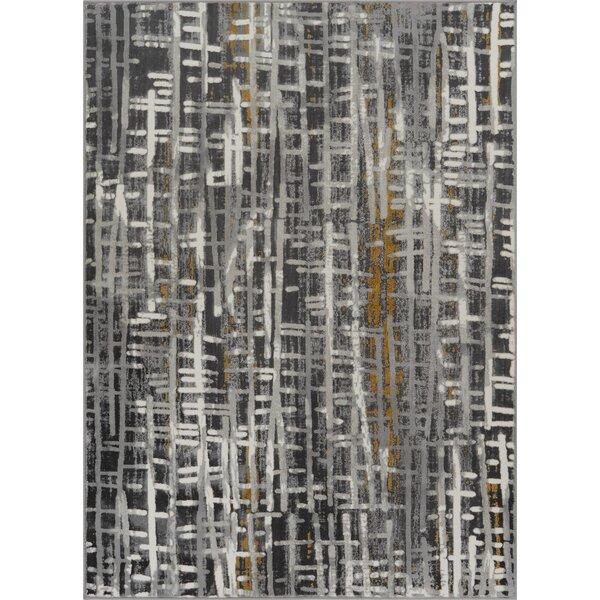 Cherree Geometric Plaid Gray Area Rug by Williston Forge