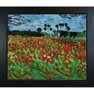 Field of Poppies by Vincent Van Gogh Framed Painting by Tori Home