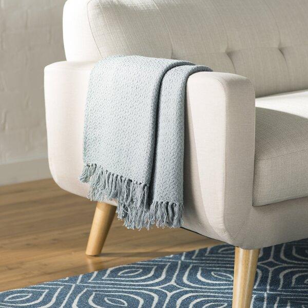 Polaris Cotton Throw Blanket by Mercury Row