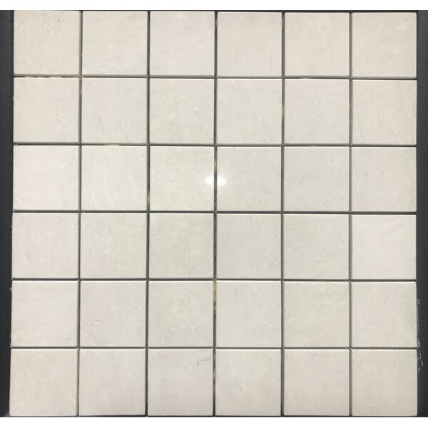 Pearl River 2 x 2 Porcelain Mosaic Tile in Off White by Kertiles