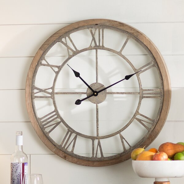 Natural Wood Wall Clock by Laurel Foundry Modern Farmhouse