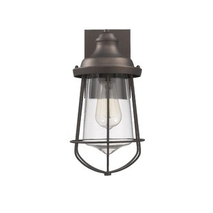 Great Price Duell Industrial Outdoor Wall Lantern By Breakwater Bay