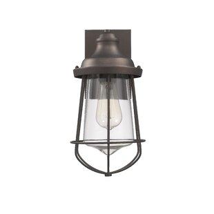 Best Price Duell Industrial Outdoor Wall Lantern By Breakwater Bay