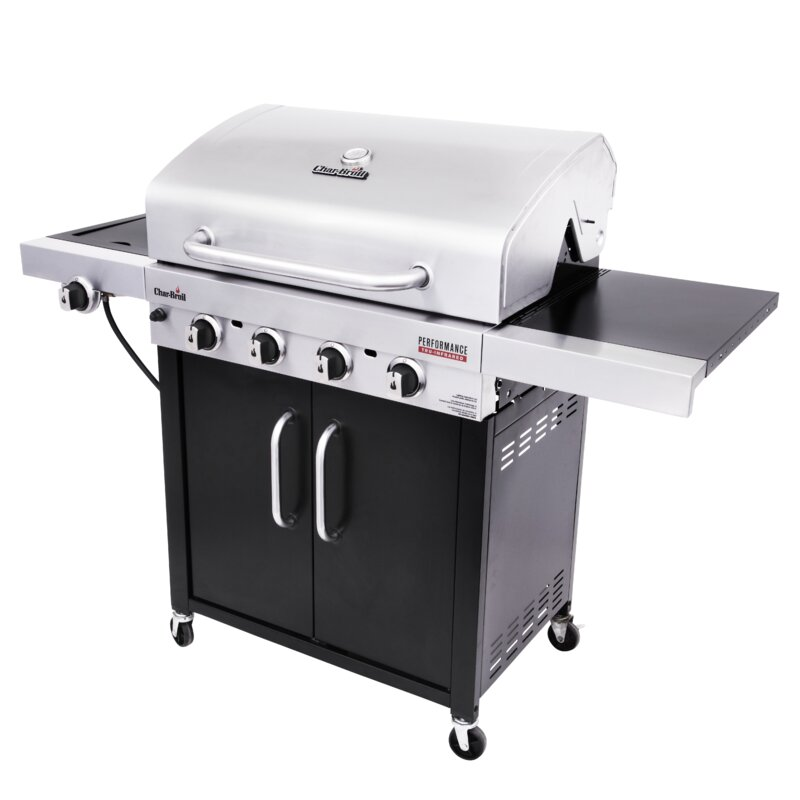 Charbroil Tru Infrared 4 Burner Propane Gas Grill With Side Burner And Cabinet Reviews Wayfair