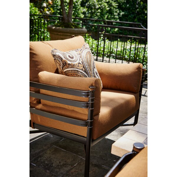 Lancaster Stationary Patio Chair with Sunbrella Cushions (Set of 2) by Inspired Visions Inspired Visions