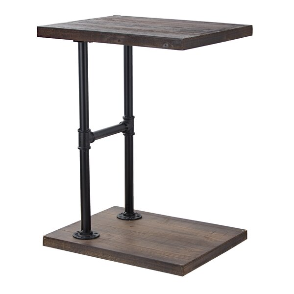 Delicia Decor Furniture Wood and Metal C Style End Table by Gracie Oaks