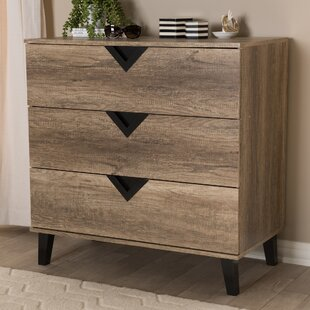 Cronan Wood 3 Drawers Chest