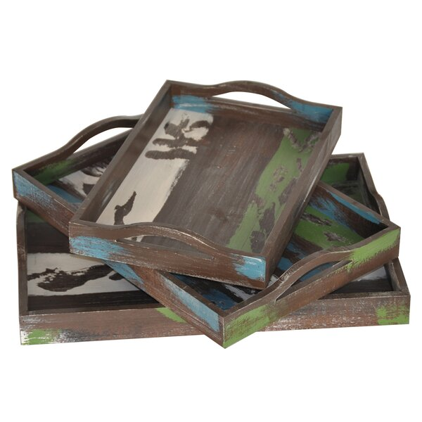 3 Piece Stack Tray Set by Loon Peak