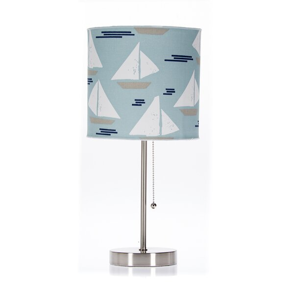 12 H x 14 W Fabric Drum Lamp Shade ( Screw On ) in Blue/White