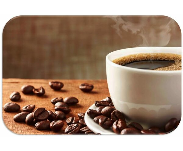 Coffee Cup Print Slip-Resistant Foam 19 Placemat (Set of 8) by Dainty Home