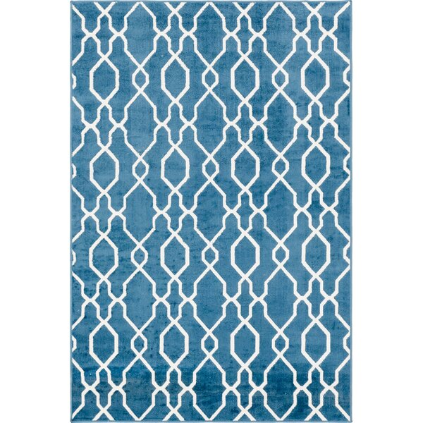 Karan Blue Indoor/Outdoor Area Rug by Brayden Studio