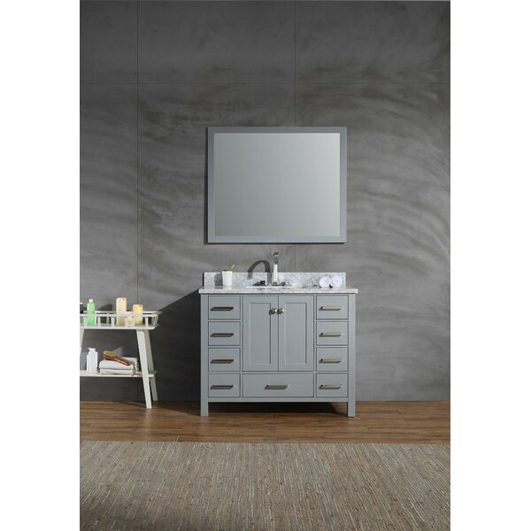 Harewood 43 Single Bathroom Vanity Set with Mirror by Andover Mills