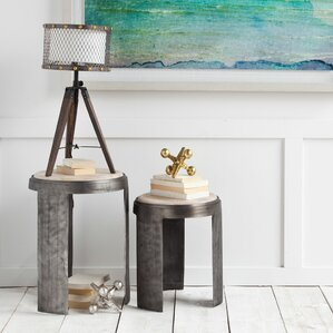 Mascotte End Table (Set of 2) by Rosecliff Heights