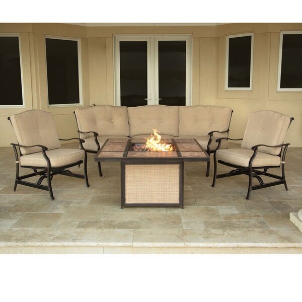 Carleton 4 Piece Sofa Seating Group with Cushions by Fleur De Lis Living