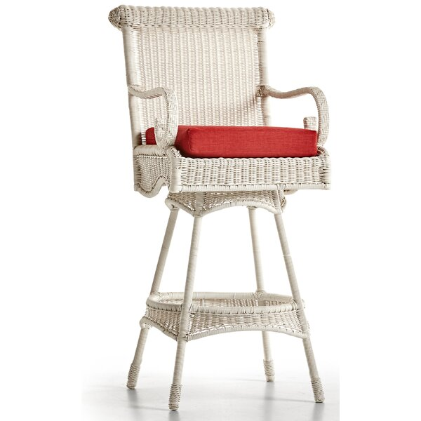 Weston 30 Patio Bar Stool With Cushion by South Sea Rattan