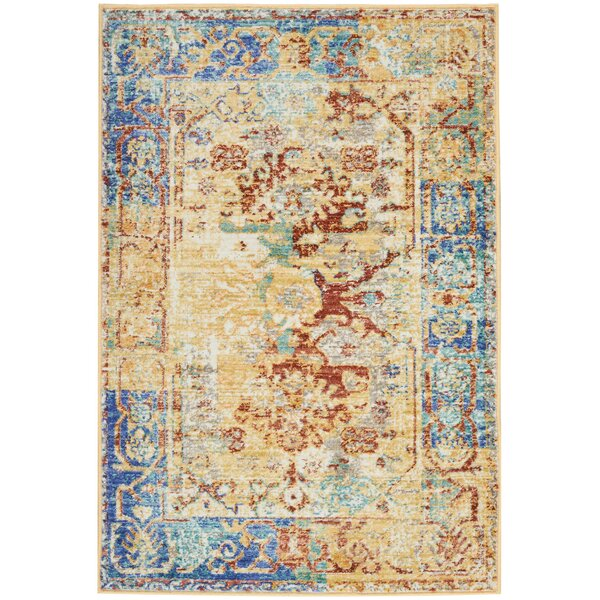 Devan Cream Indoor Area Rug by World Menagerie