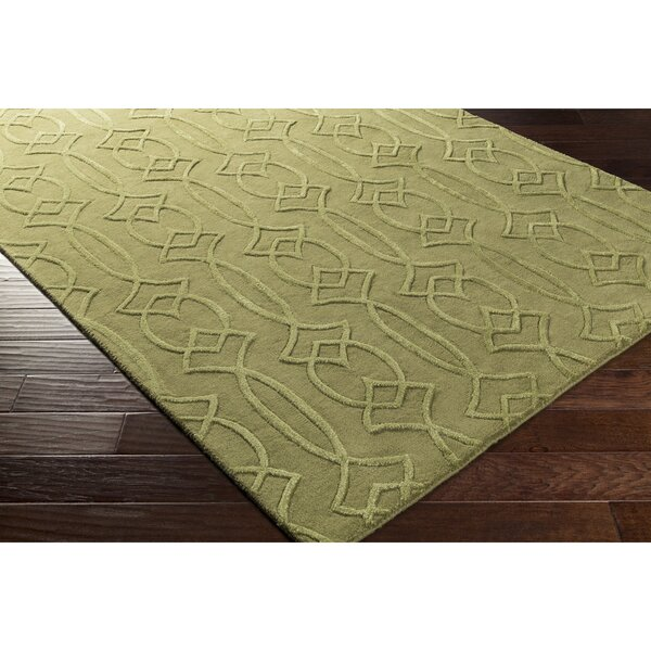 Pamela Hand-Tufted Green Area Rug by Winston Porter