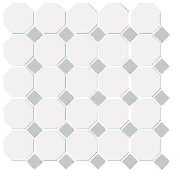 Shape Random Sized Porcelain Mosaic Tile in White/Gray by Emser Tile