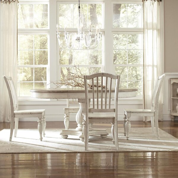 Margate 5 Piece Wood Dining Set by Three Posts