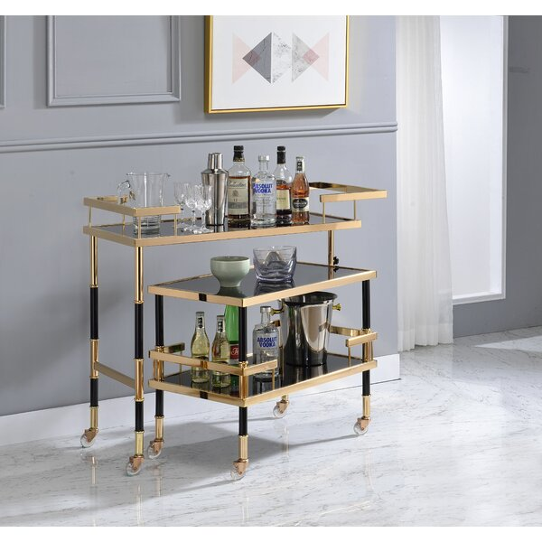 Topsham 2 Piece Bar Cart Set by Everly Quinn