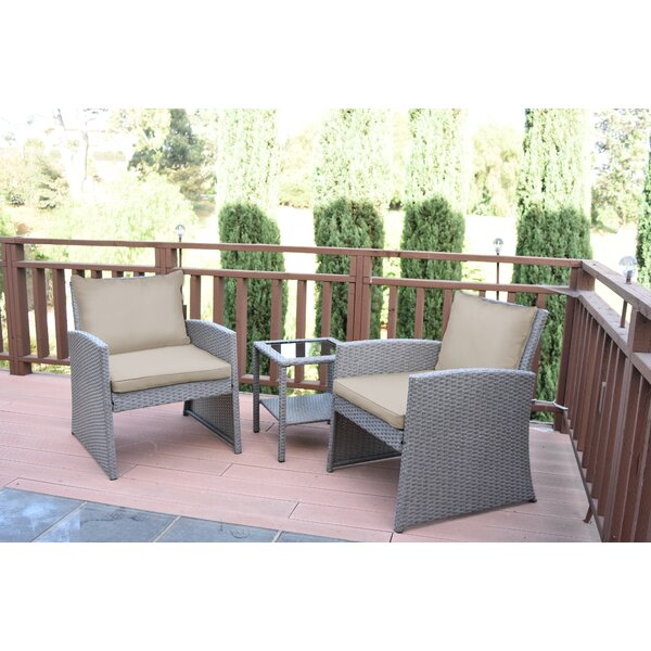 Sharyn 3 Piece Seating Group with Cushions by Breakwater Bay Breakwater Bay