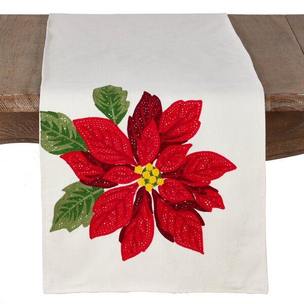 Bolton Poinsettia Holiday Runner by The Holiday Aisle