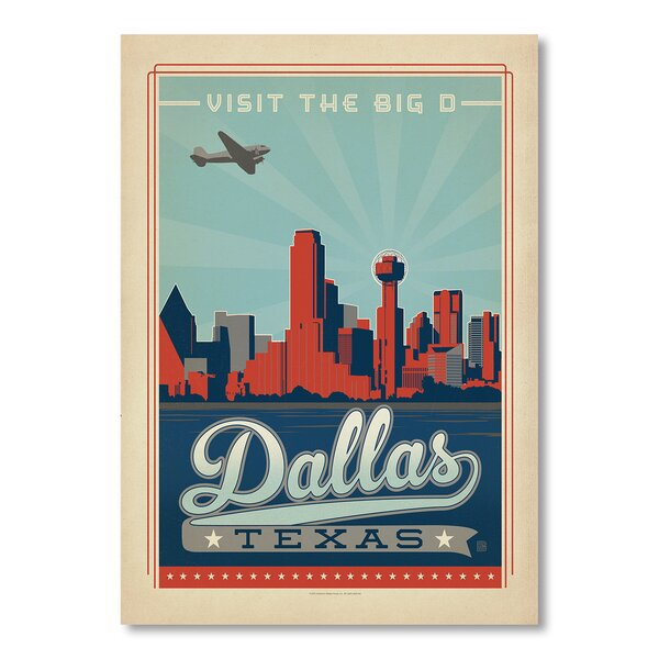 Dallas 2 Vintage Advertisement by East Urban Home