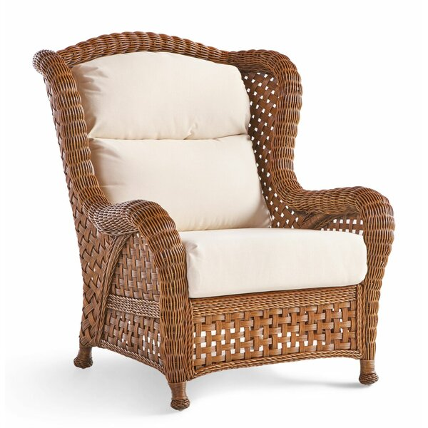 Julia Wicker Armchair by Rosecliff Heights
