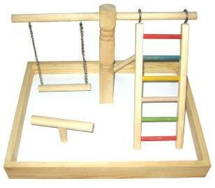 Wood Tabletop Play Station by A&E Cage Co.