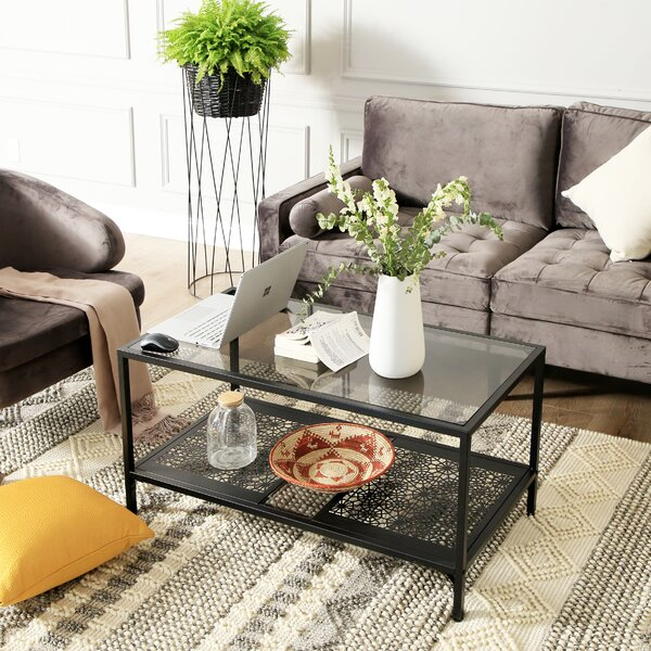 Trafford 4 Legs Coffee Table With Storage By Fleur De Lis Living