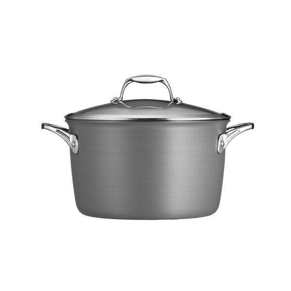 Gourmet Hard Anodized 8-qt. Stock Pot with Lid by Tramontina