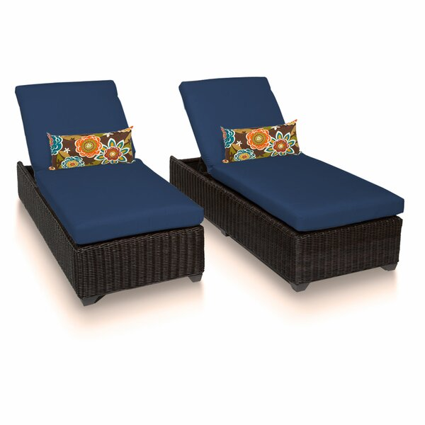 Fairfield Chaise Lounge with Cushion (Set of 2) by Sol 72 Outdoor
