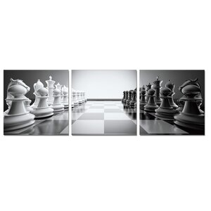 Chess 3 Piece Photographic Print Set by Furinno