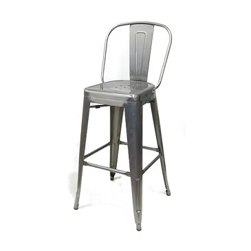 Crossland 30 Metal-Galvanized Bar Stool by Williston Forge