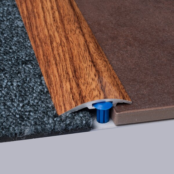 0.25 x 1.5 x 35.5 Walnut Carpet Reducer in Brown by ELESGO Floor USA