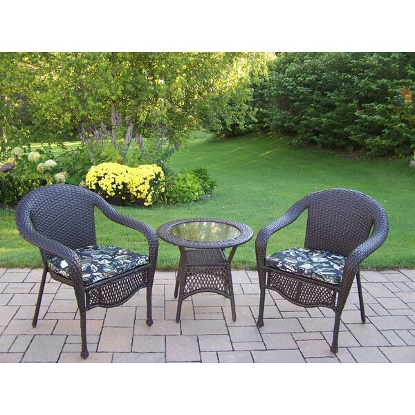 Elite 3 Piece Conversation Set with Cushions by Oakland Living