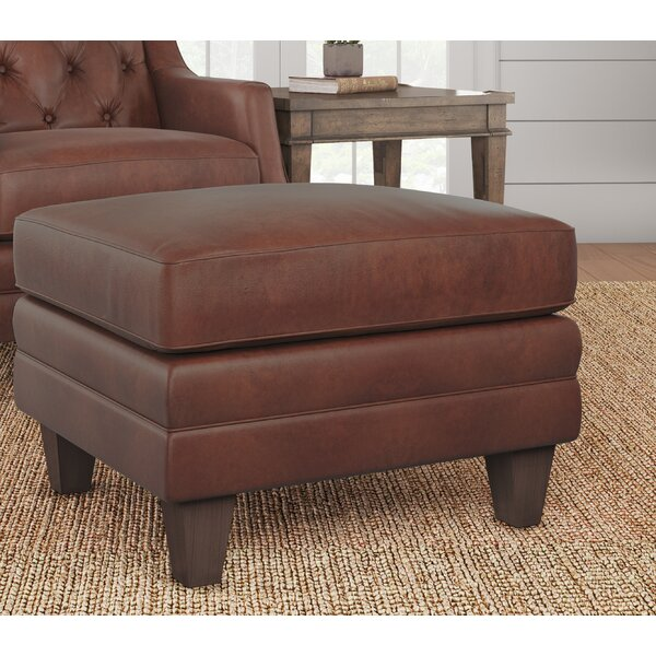 Keya Leather Ottoman by Darby Home Co