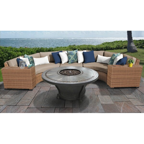 Waterbury 6 Piece Sectional Seating Group with Cushions by Sol 72 Outdoor Sol 72 Outdoor