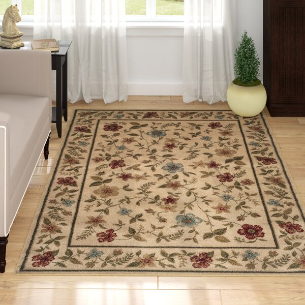 Abbottstown Ivory/Beige Area Rug by Charlton Home
