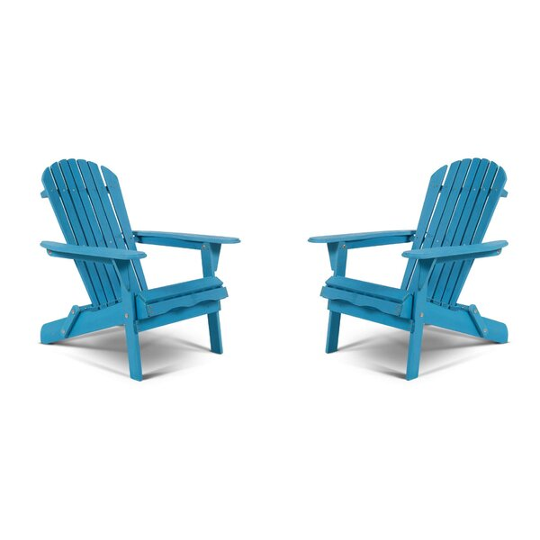Wincott Solid Wood Folding Adirondack Chair (Set of 2) by Highland Dunes Highland Dunes